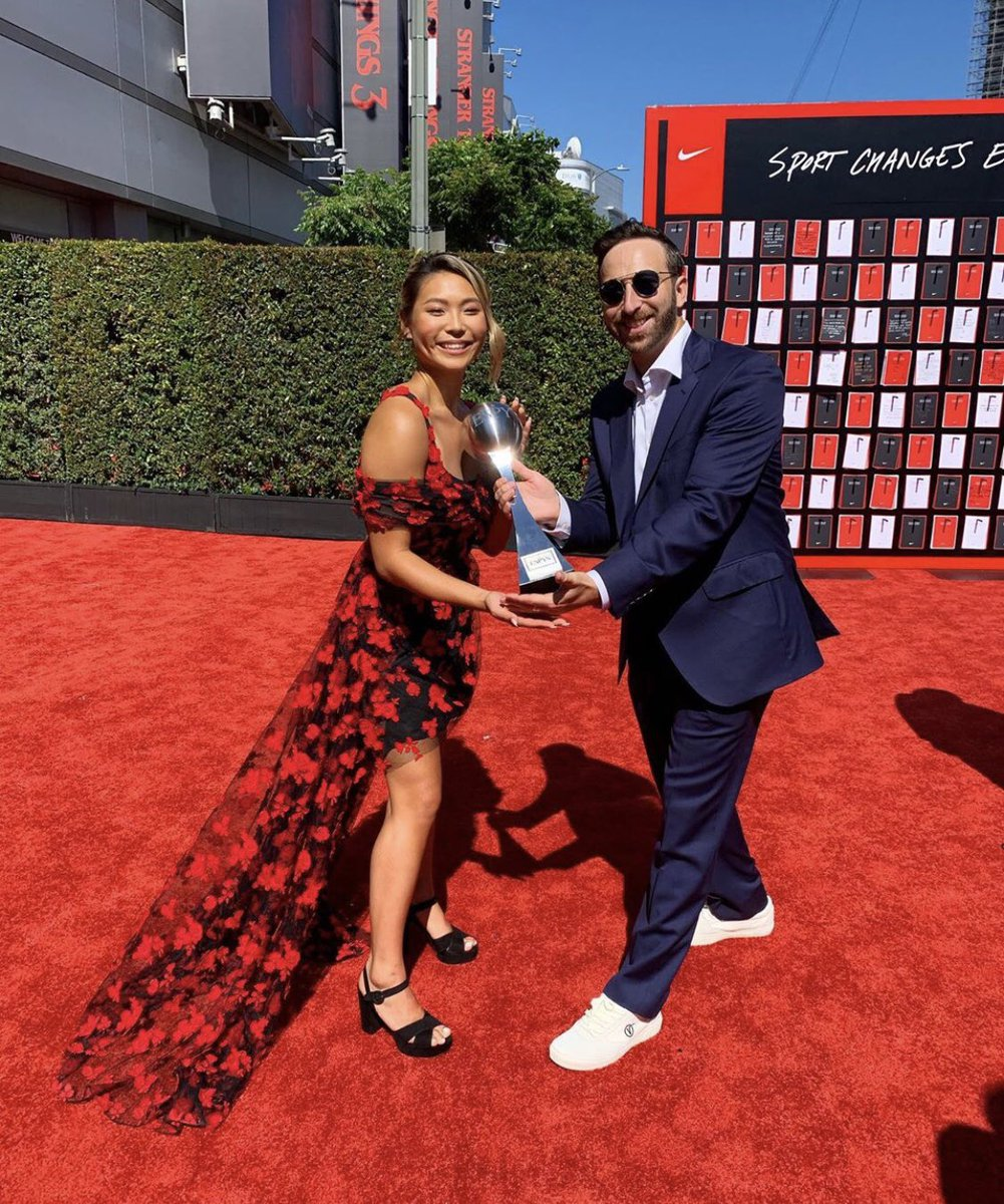WOW! Congrats to @chloekim who has just won Best Female Action Sports Athlete at the 2019 #espys‼️