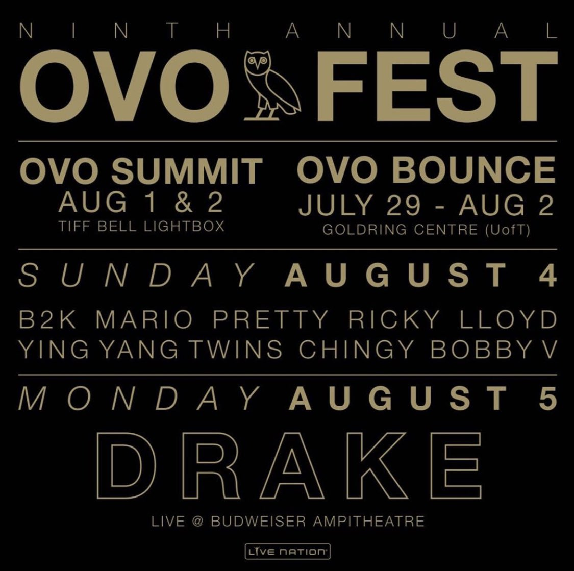 9th annual OVO Fest! Tickets on sale Friday!