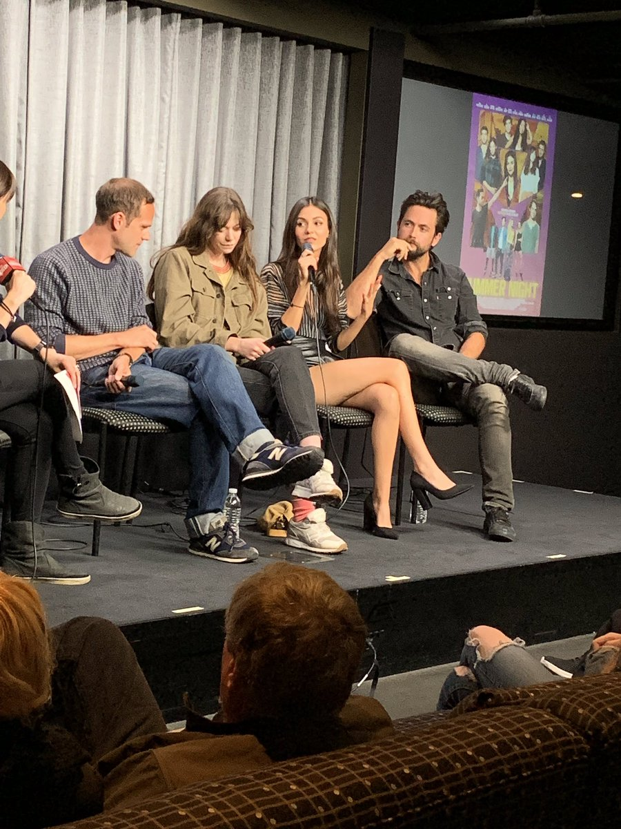 """What I love most about the movie is that it feels very real to me and a slice of life & it's not anything crazy. It's just life. It's people living and trying to figure stuff out."" - @VictoriaJustice on the movie #SummerNight"
