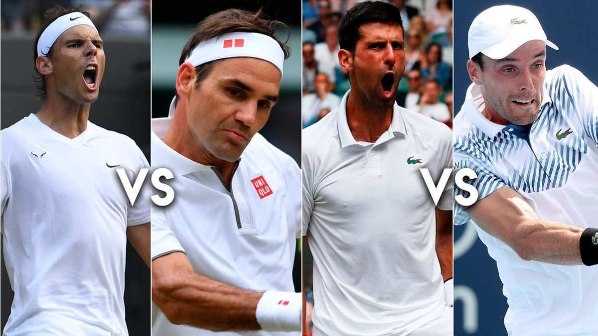 #Tenis | #Wimbledon: Nadal-Federer y Djokovic-Agut, los choques de semifinales
