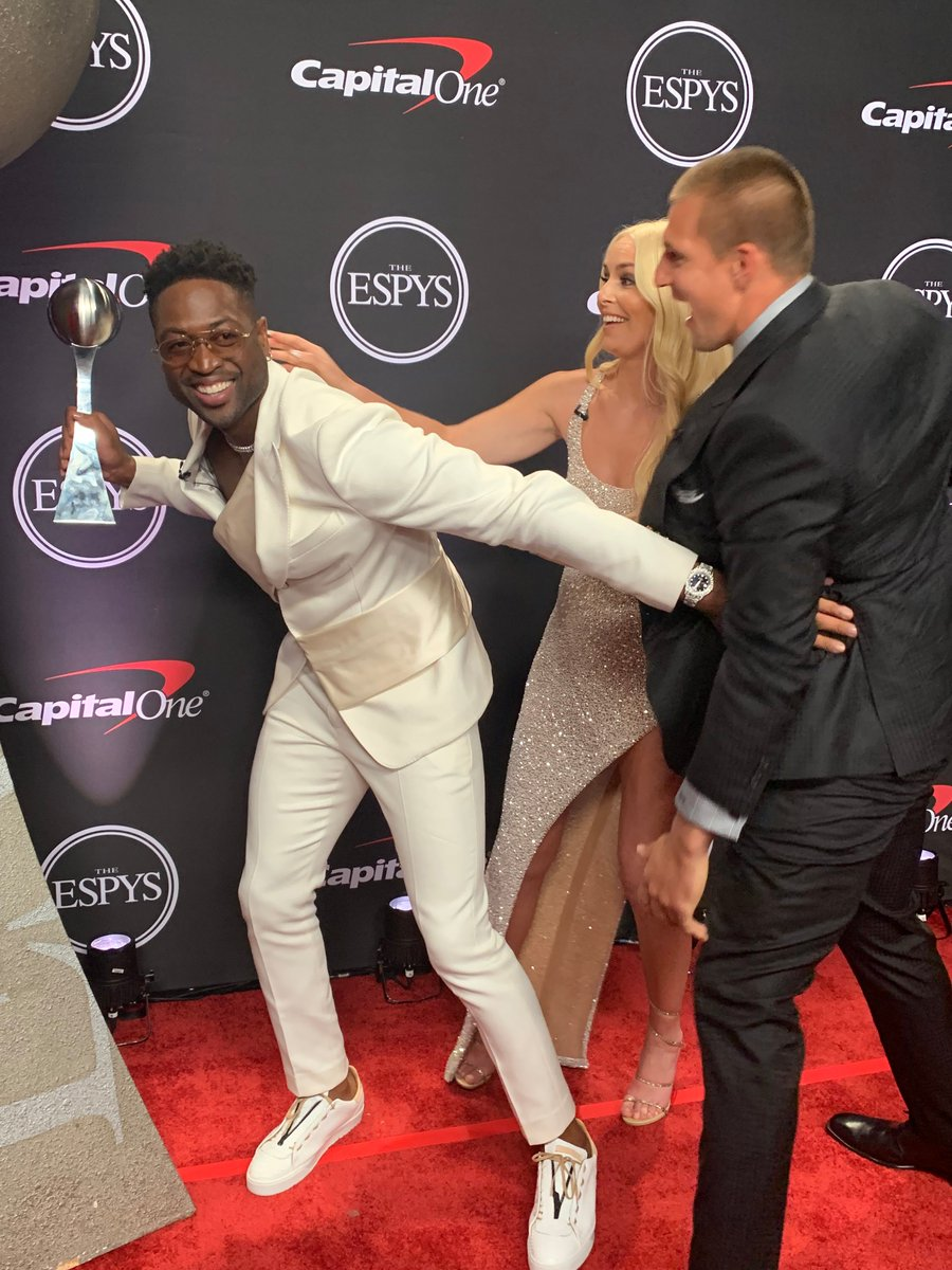 lindsey vonn rob gronkowski and dwade