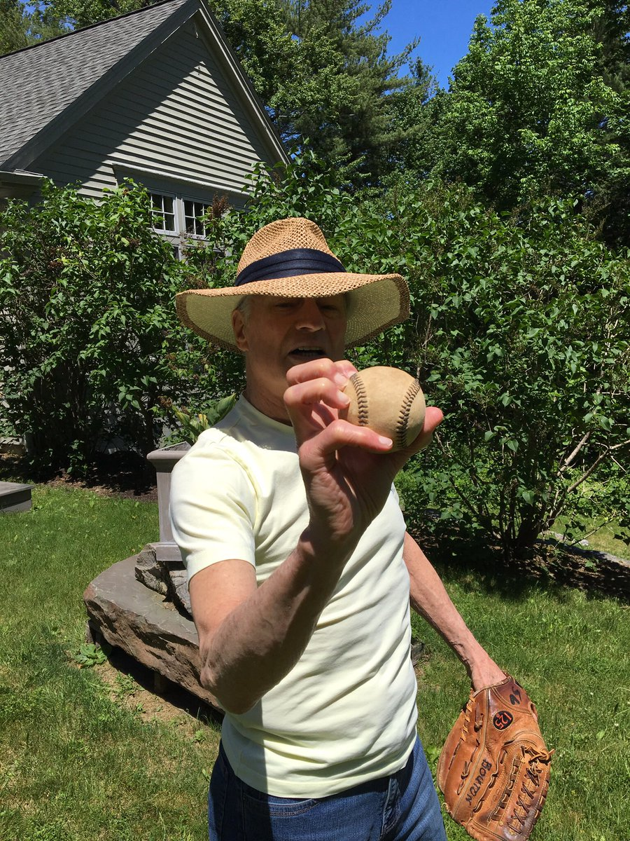 This photo is from 2017, when Jim Bouton, who was struggling with his health, still wanted to play catch in his backyard in the Berkshires. Nobody ever captured the humor and humanity of ballplayers the way Bouton did in Ball Four. Rest easy, Bulldog.