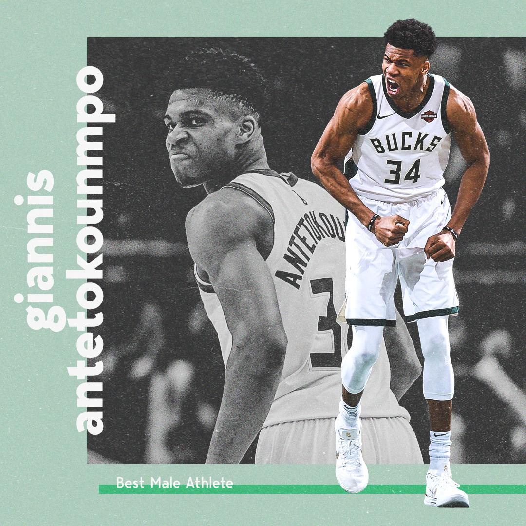 • MVP• ESPYS Best NBA Athlete• #ESPYS Best Male AthleteIt's been a year for @Giannis_An34 💪