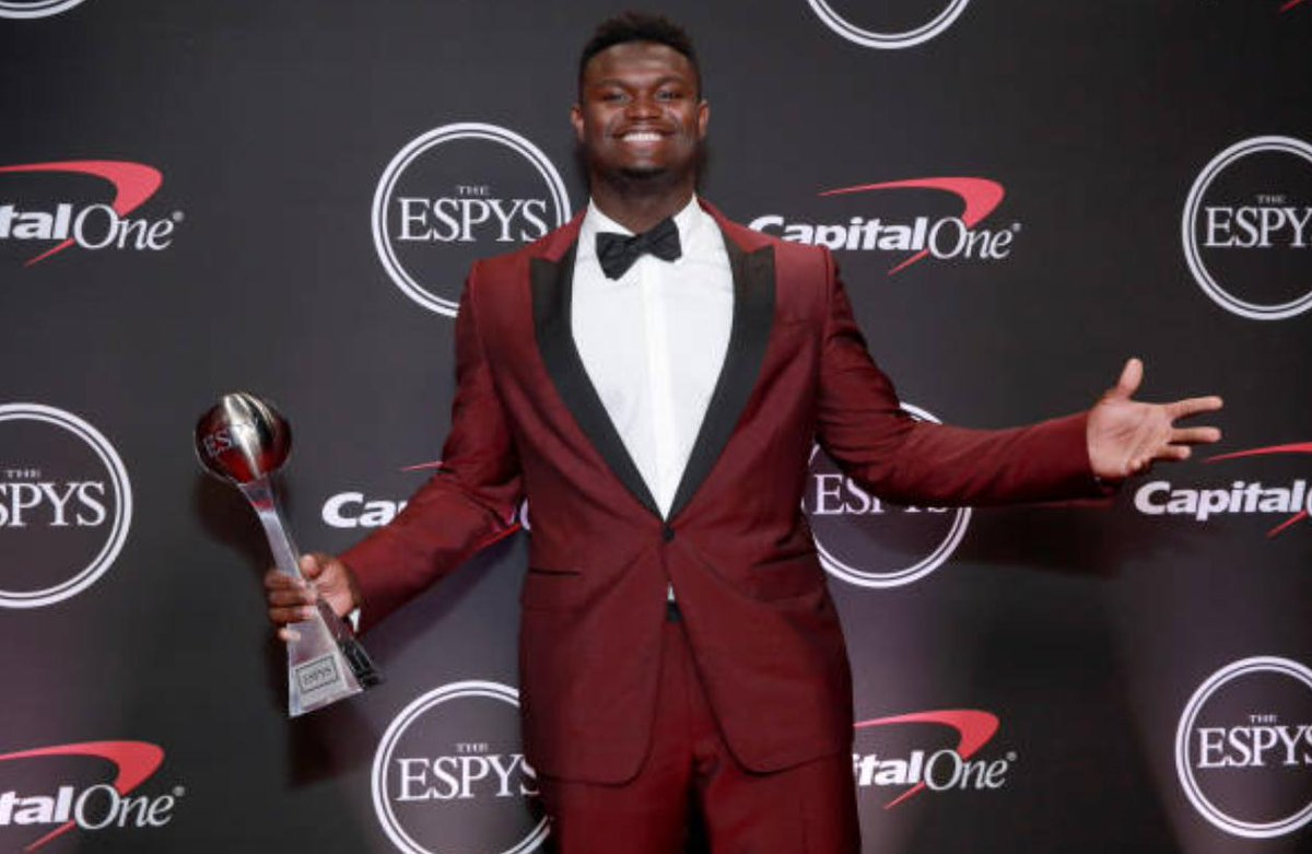 zionwilliamson wins espy for best college athlete story https www nba com pelicans zion williamson wins espy best college athlete pic twitter com