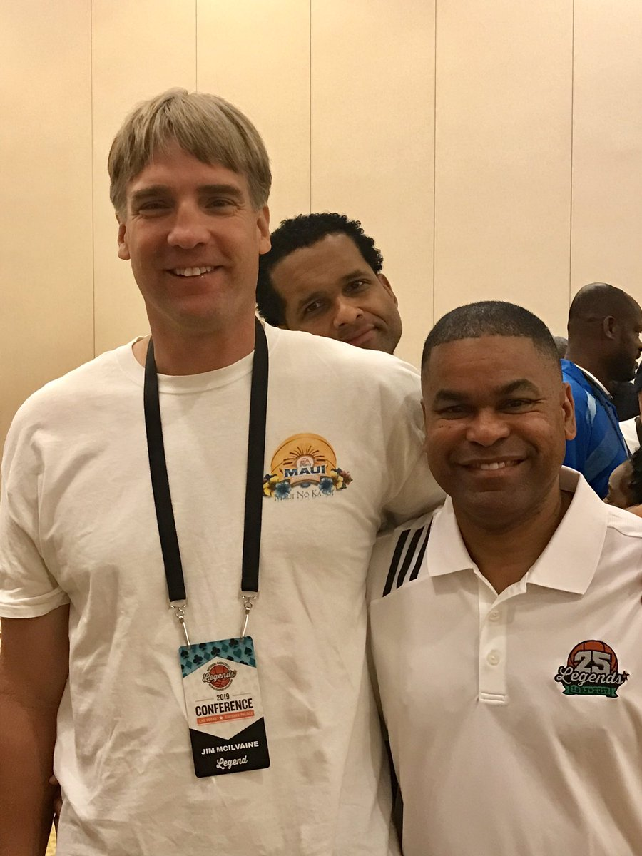 Shoutout to my man @JimMcIlvaine who's a gentle giant and one of the nicest guys I know...  Oh yeah and to that guy @Stephen_Speaks who is (LOL) photo bombing our picture.  Good seeing yall man!