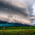 Image for the Tweet beginning: A beautiful summer storm with