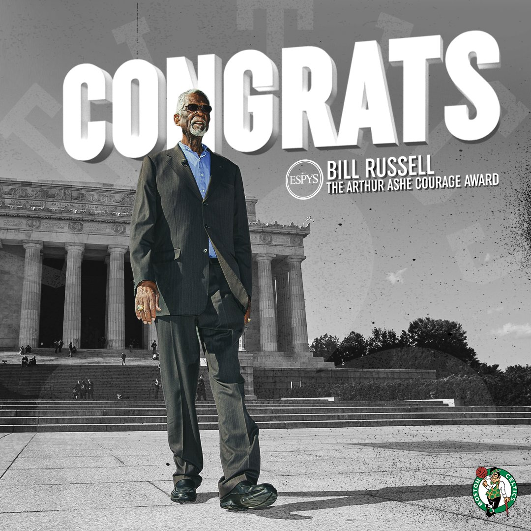 Congratulations to the 🐐 @RealBillRussell on receiving this year's Arthur Ashe Award #ESPYS