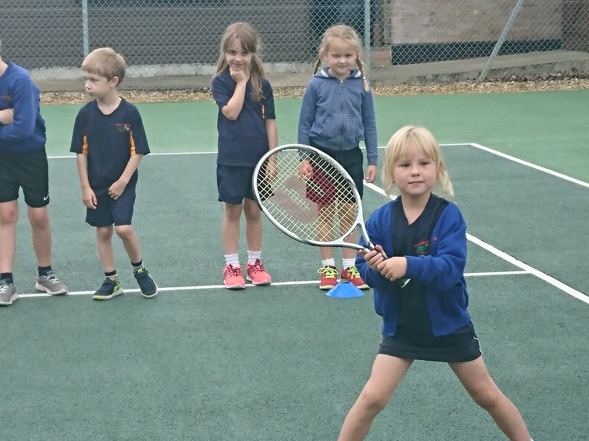 Robin class have been practicing for Wimbledon