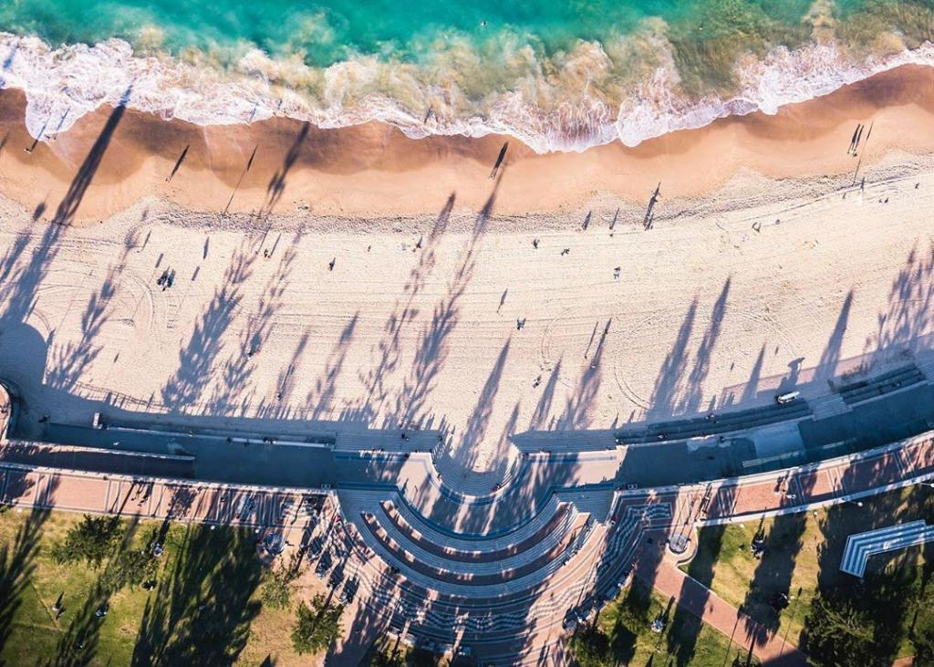 INSTAGRAM OF THE DAY: The many colours of the #Coogee coastline create a beautiful scene from above. Land, sand & sea  #ilovesydney   IG/alexandergolderpic.twitter.com/WXfAQDulOd