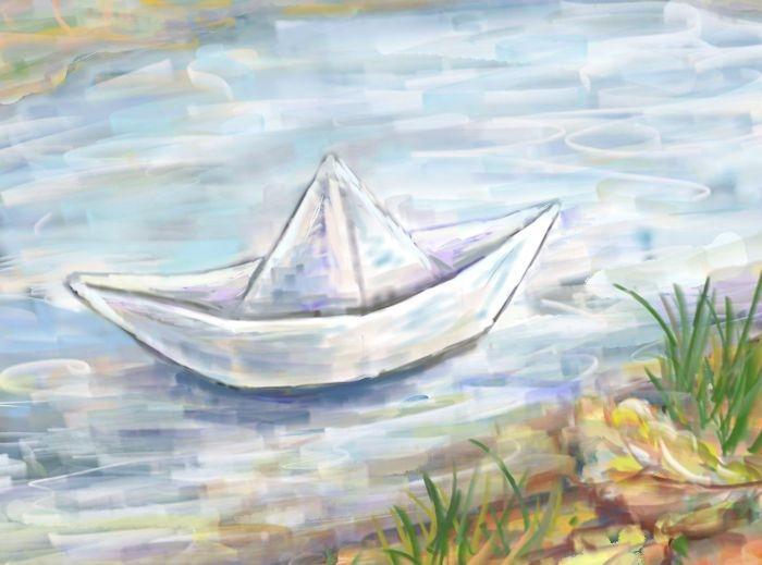 бумажный кораблик картинки рисунки летом они порадуют