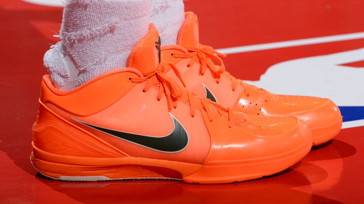 84a8a4c094f37 lankysmoove laced up these bright orange nike kobe 4 protros for summer  league btyphoto