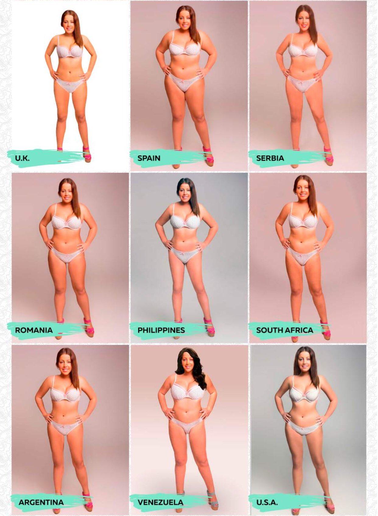 プロポーションの美しさの基準は、世界各国全く違うwwwおもしろ実験結果www