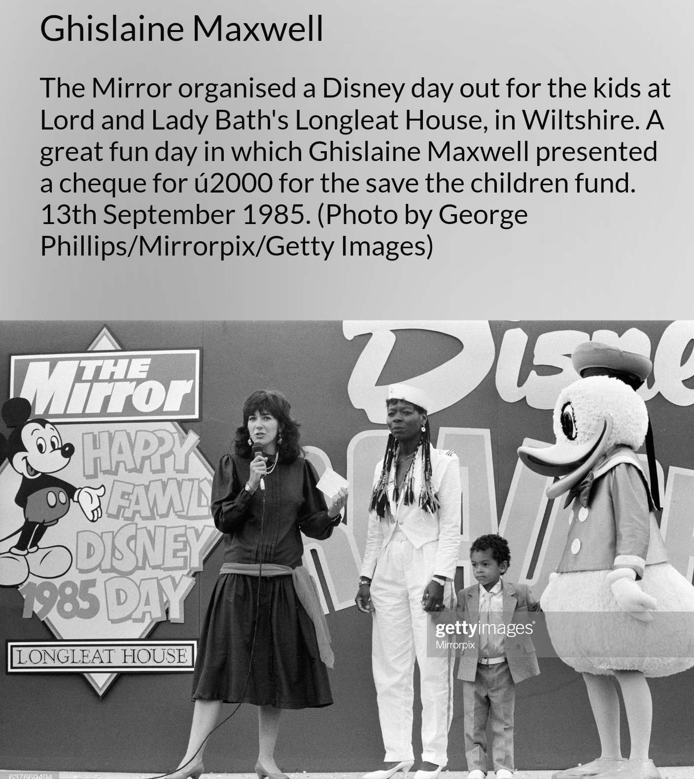 Organiziran dogodek save the children v Disney