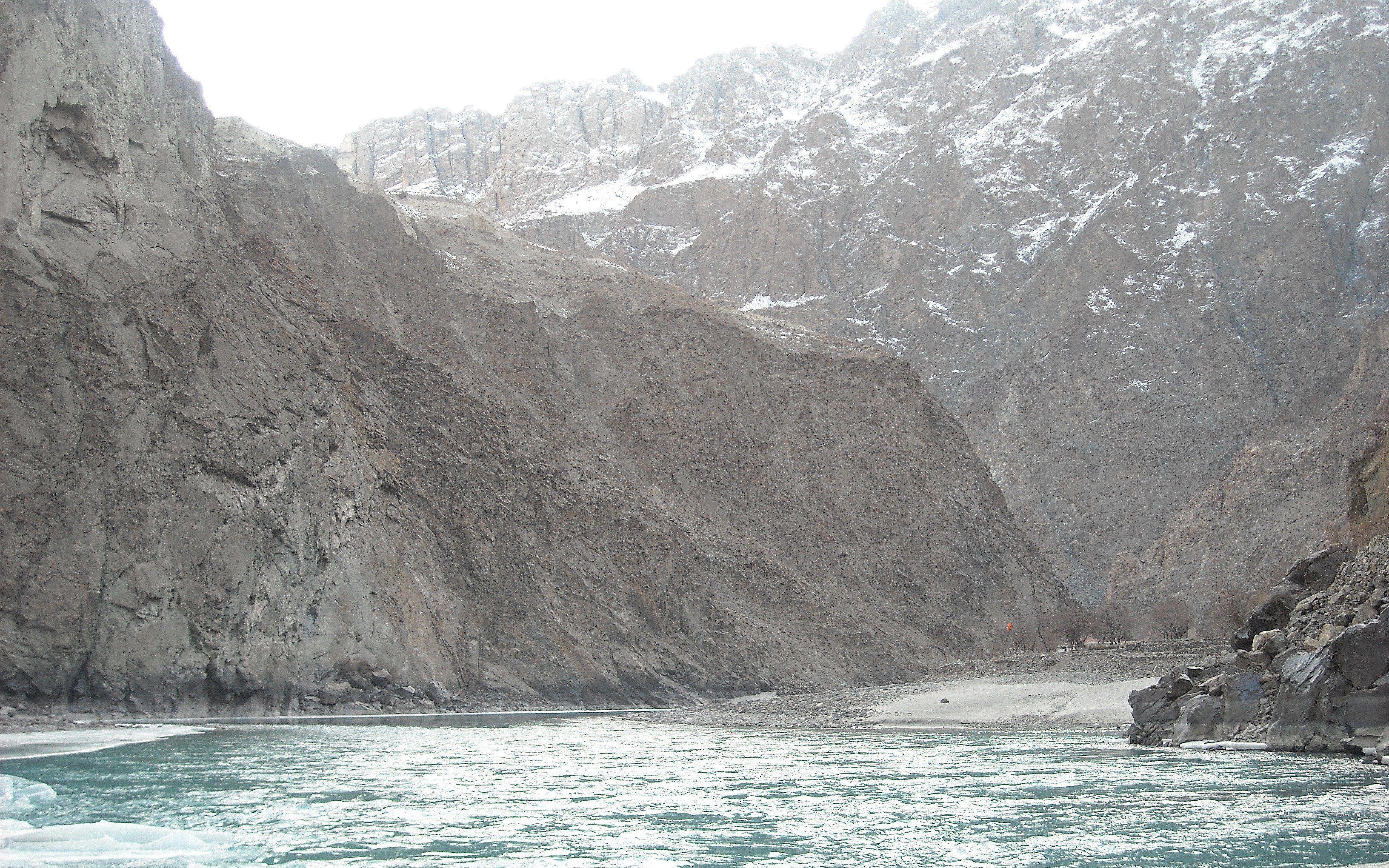 Indus in making its way through formidable Himalayas