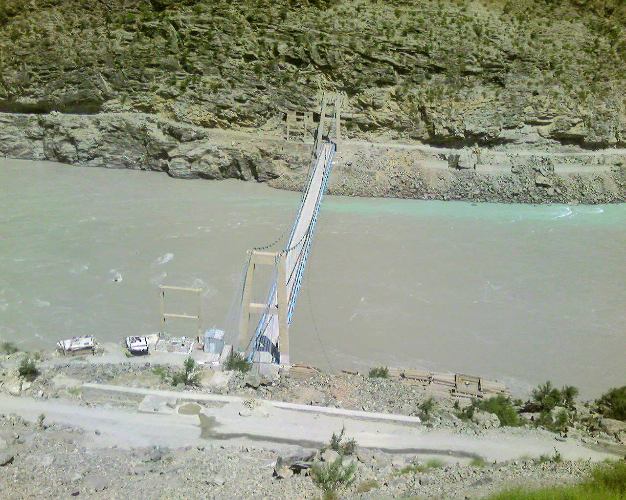 A bridge on Indus near Chilas on KKH
