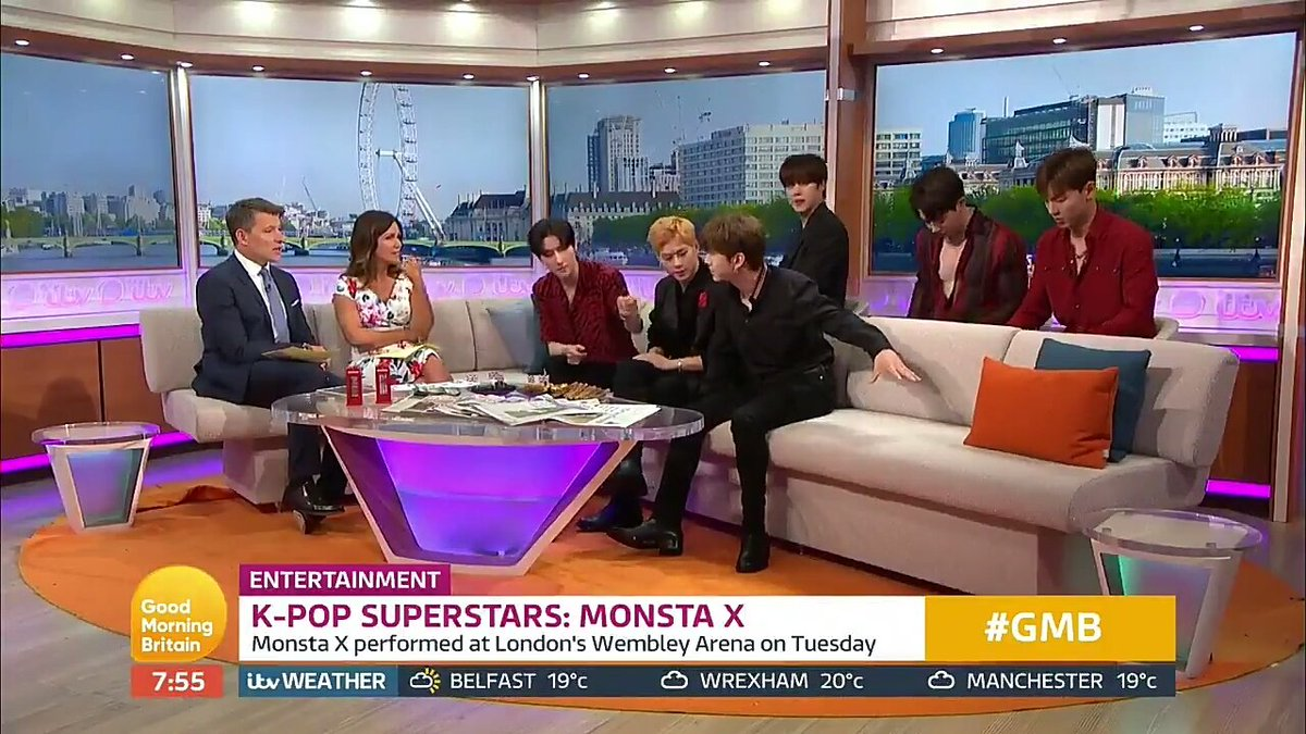 they left a spot for Hyungwon :( they did great even as 6 so proud of them as always @OfficialMonstaX   #GMB_MONSTAX #GoodMorningBritain<br>http://pic.twitter.com/o4mlEekxOD