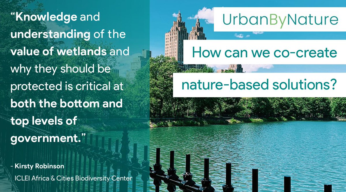 Join us for @ICLEI_Europe & @CitiesWNature's 2nd #UrbanByNature webinar, today at 15:00 CEST.  It's part of an innovative capacity-building & expertise-sharing program to lift barriers to urban #nature & set our #cities on a #sustainable course.  Register: https://t.co/rOWg0K4fiI