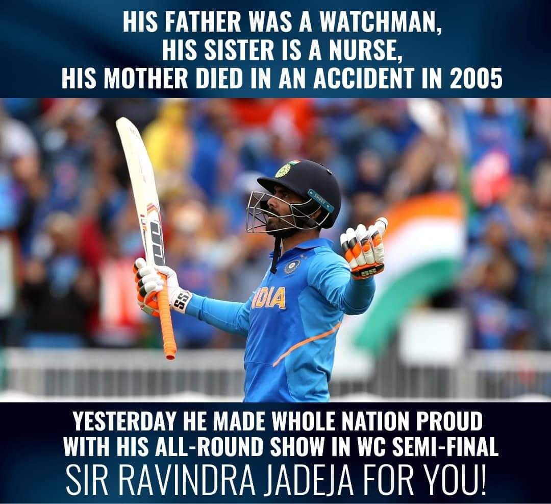 .@imjadeja won each and every Indian fan's heart with his all-round brilliance. #indiavsNewzealand  #WC2019<br>http://pic.twitter.com/lsXQYFq4td