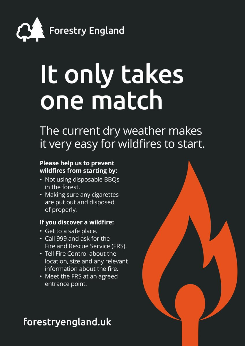 Help us prevent forest fires during hot weather by not using disposable BBQs and making sure cigarettes are put out properly  <br>http://pic.twitter.com/TN3cAW3BWr