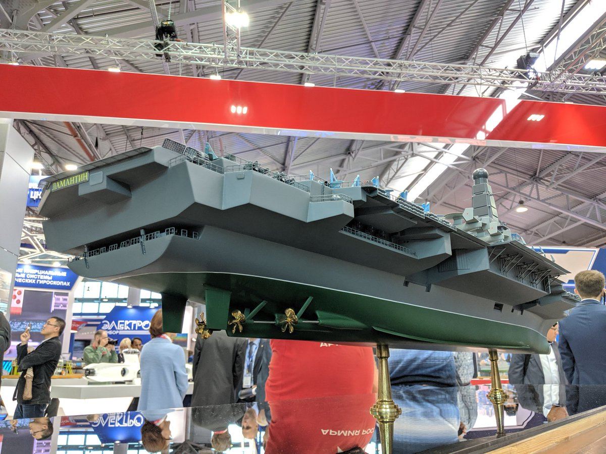 الكشف عن تصميم حاملة الطائرات النوويه الروسيه  Project 11430E 'Lamantin' D_LqtUNXoAAmI3T