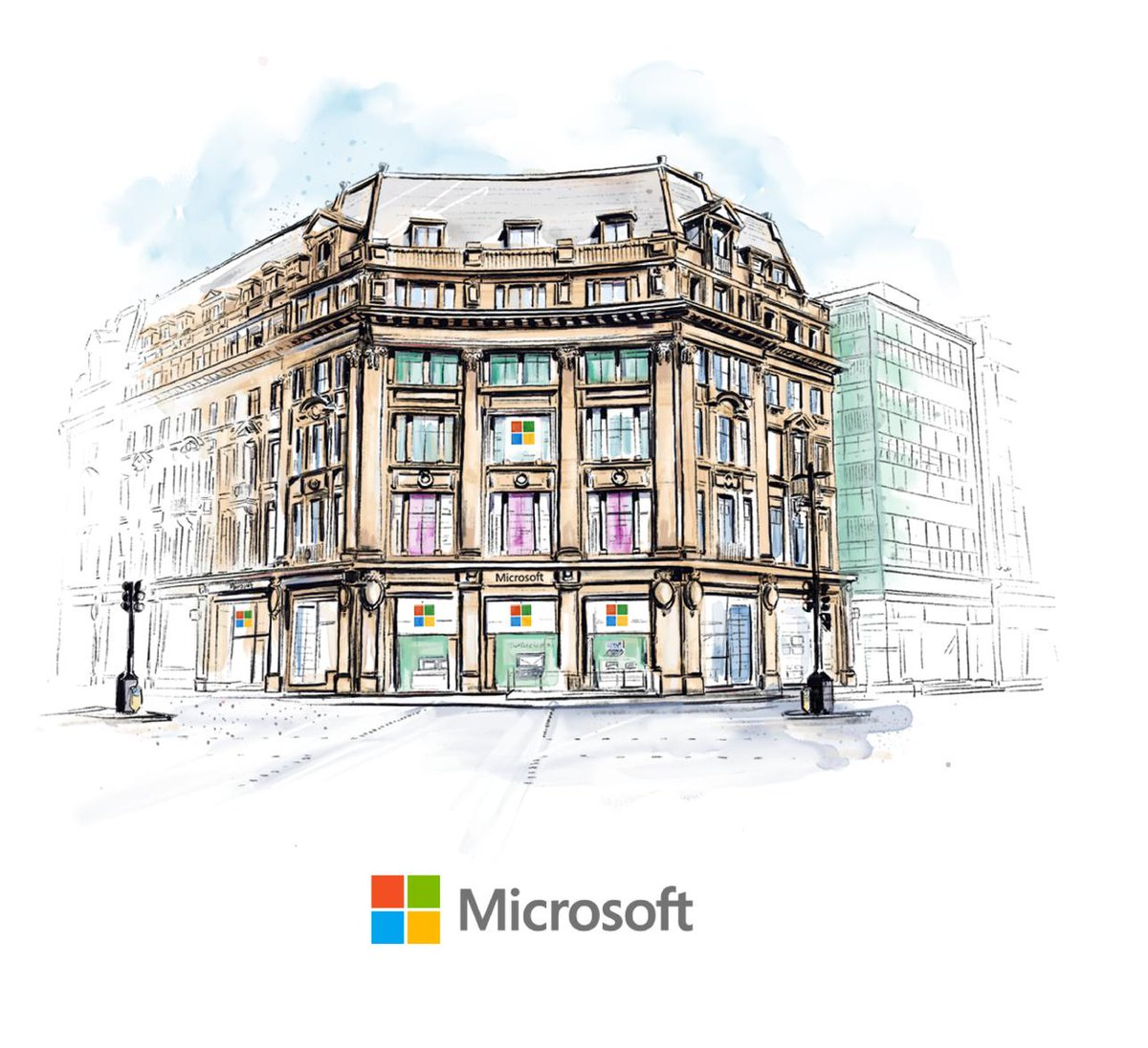 The flagship Microsoft Store on Oxford Circus opens today!Learn more about the store: http://msft.it/6017Tzek7 #MicrosoftLDN #Microsoft