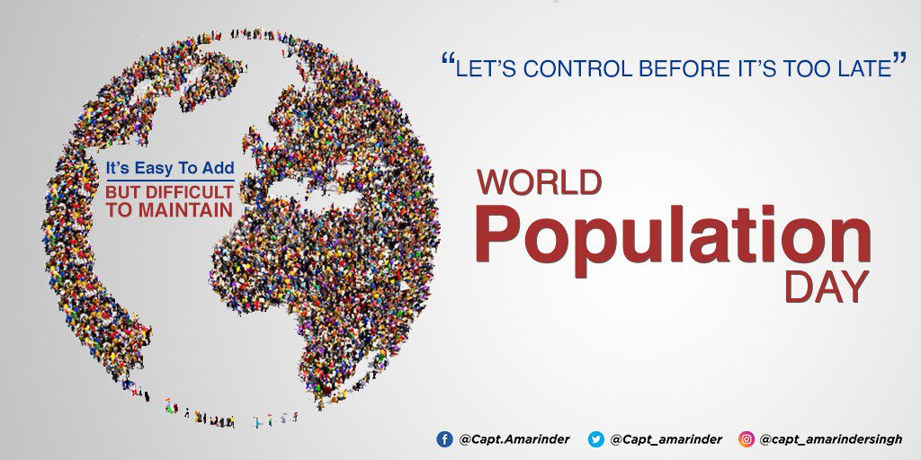Rising population is an urgent problem facing our world and we must come together to address this issue. This #WorldPopulationDay, let us all pledge to effectively control population explosion through family planning for a better tomorrow.