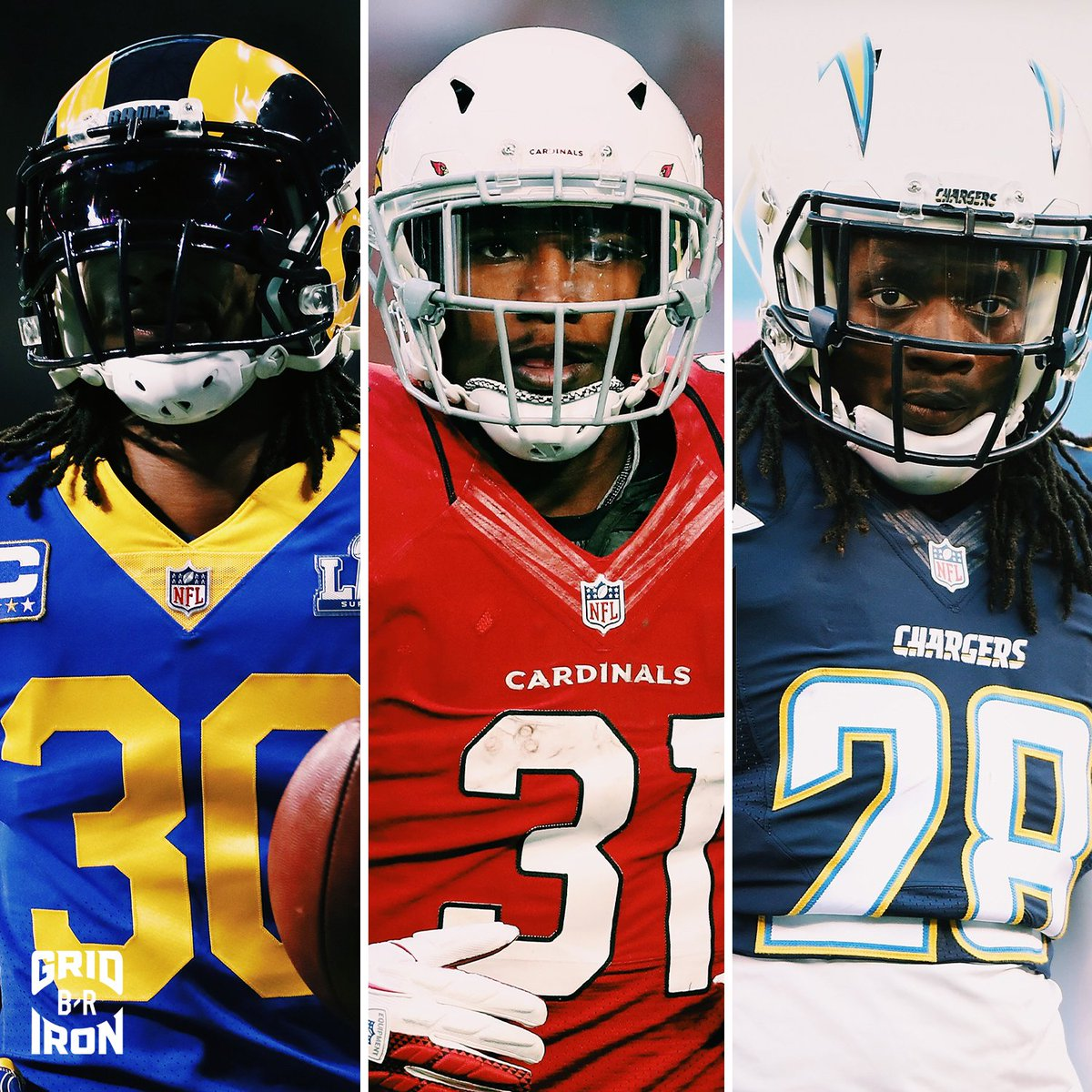 2015 running backs last year:   Todd Gurley - $60M  David Johnson - $39M  Melvin Gordon wants his. <br>http://pic.twitter.com/8vqkpAfwps