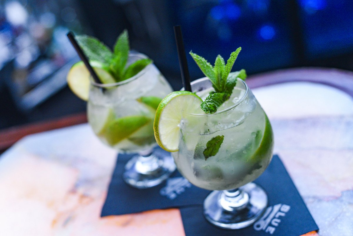 𝗧𝗶𝗺𝗲 𝗳𝗹𝗶𝗲𝘀 𝘄𝗵𝗲𝗻 𝘆𝗼𝘂'𝗿𝗲 𝗵𝗮𝘃𝗶𝗻𝗴 𝗥𝘂𝗺. 🌿 Stay cool on #NationalMojitoDay and enjoy our Classic and Refreshing Mojito made with rum, sugar, lime + mint!  Enjoy happy hour special pricing and 𝙃𝘼𝙇𝙁 𝙊𝙁𝙁  mojitos all night. 🍹
