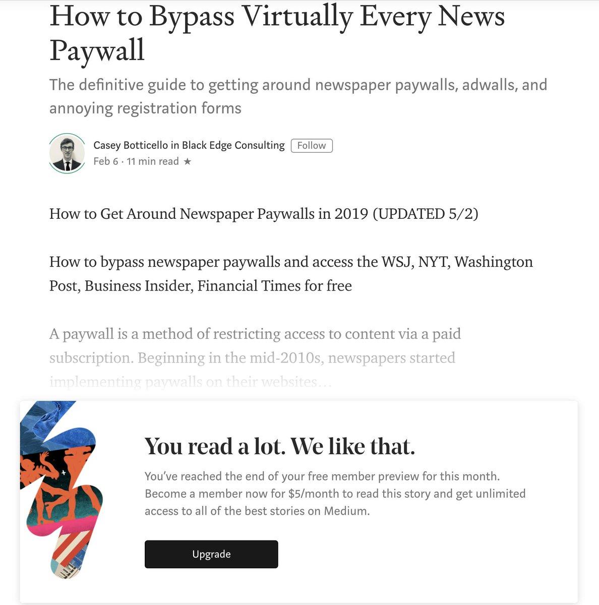 Bypass Medium Paywall