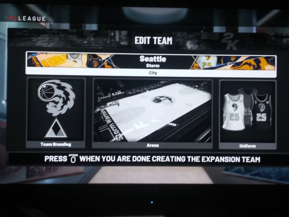Adding 6 Expansion teams to an #NBA2K19 #MyLeague. Starting with the Seattle Storm. #WatchTheStorm #SeaStorm https://t.co/ODLoMW7G7l