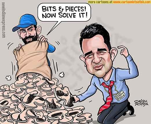 Bits and pieces Jadeja! #SanjayManjrekar #RavindraJadeja   @NewIndianXpress  cartoon.<br>http://pic.twitter.com/wyXOSDQkcv