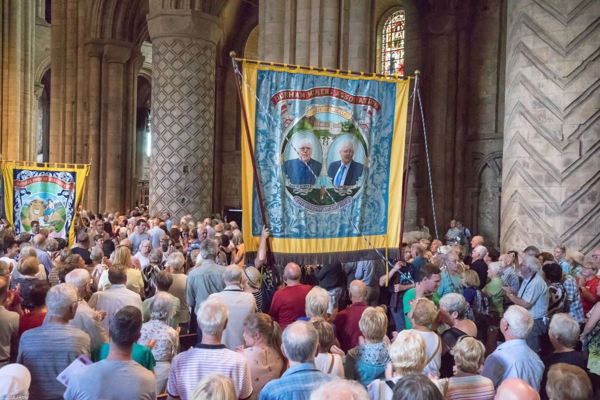 This Sat 13 July is the 135th #DurhamMinersGala, celebrating 150 years since the formation of the Durham Miners Association. Don't miss the Procession of Banners & the Miners Festival Service in @durhamcathedral at 2:30pm. Image: John Attle #LivingHeritage #WorldHeritage