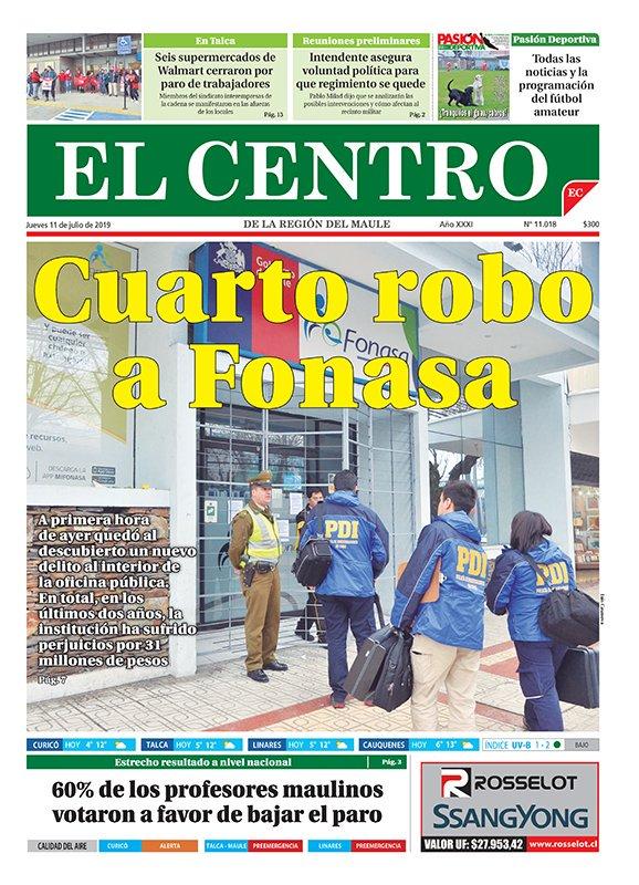 Diario El Centro On Twitter Buenos Dias Nuestra Portada De