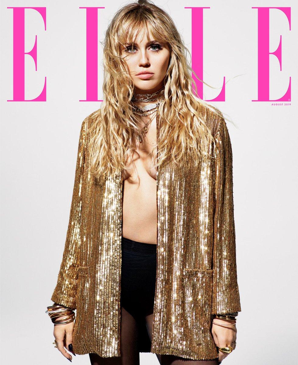 Miley Cyrus está deslumbrante na capa e recheio da ELLE; veja as fotos