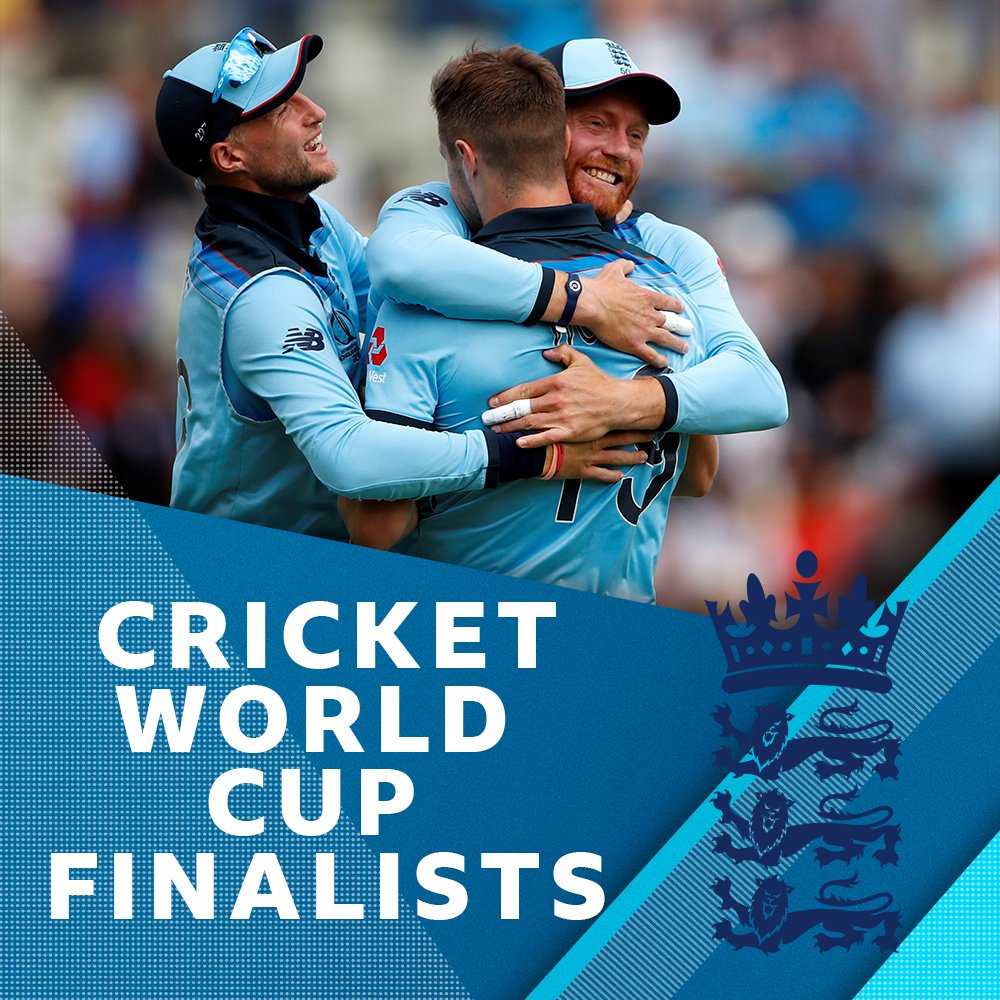 """ENGLAND ARE IN THE CRICKET WORLD CUP FINAL!   """"They've hammered Australia by 8 wickets"""" - @AggersCricket    https:// bbc.in/2AhzsDX     #CWC19  #ENGvAUS <br>http://pic.twitter.com/xUctx6pGMu"""