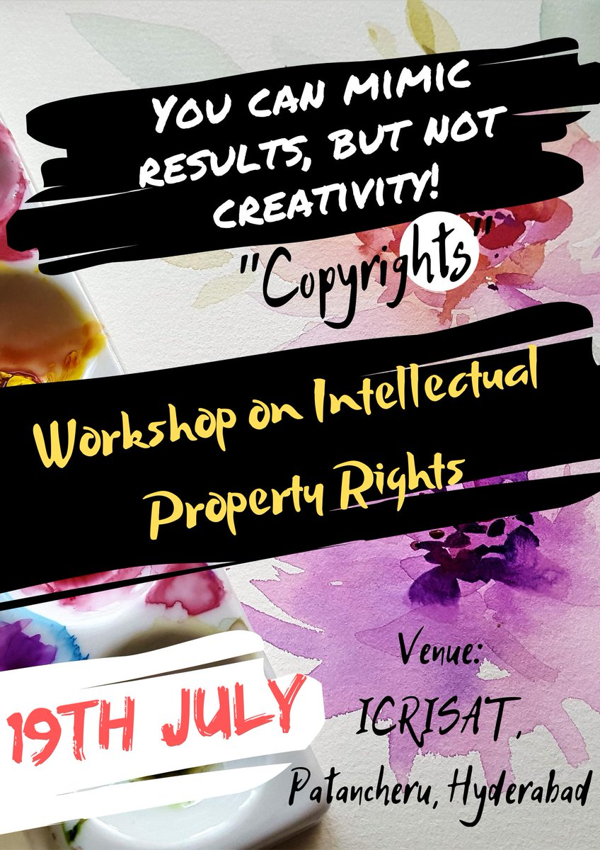 ICRISAT - Intellectual Property Facilitation Cell (@IPFC_ICRISAT