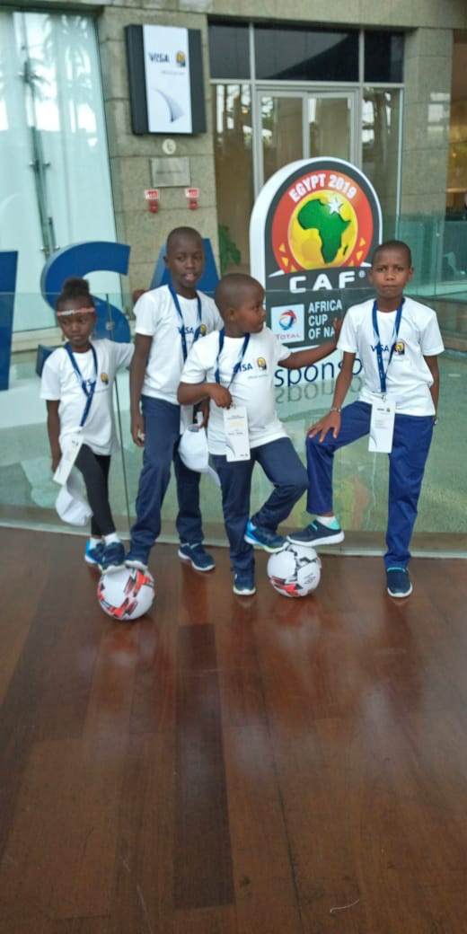 5 Kenyan children will have the rare privilege of escorting the players in tonight's #AFCON2019 quarter-final clash between #Madagascar #AlefaBarea  and #Tunisia..#VisaUnstoppableStories<br>http://pic.twitter.com/1NwD2rnvXy