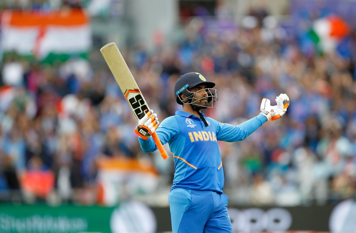 VIDEO RECAP: Watch star of the semi-final @imjadeja smash 77(59) in the semi-final against New Zealand. This innings will be remembered for a long long time  #TeamIndia #INDvNZ #CWC19    Watch the full video here  https:// bit.ly/2S7eSgP    <br>http://pic.twitter.com/CPmxpIrZSc