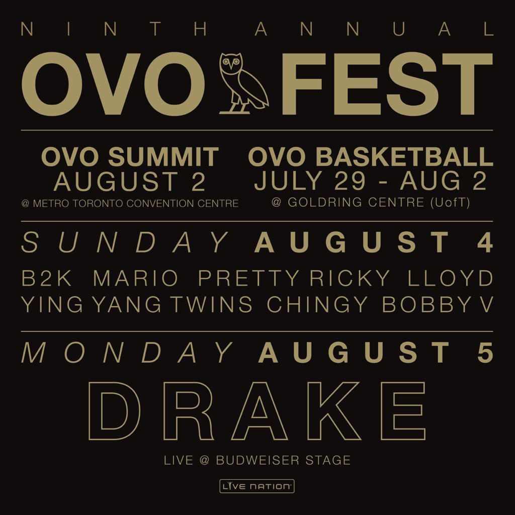 OVO Fest Tickets available Friday