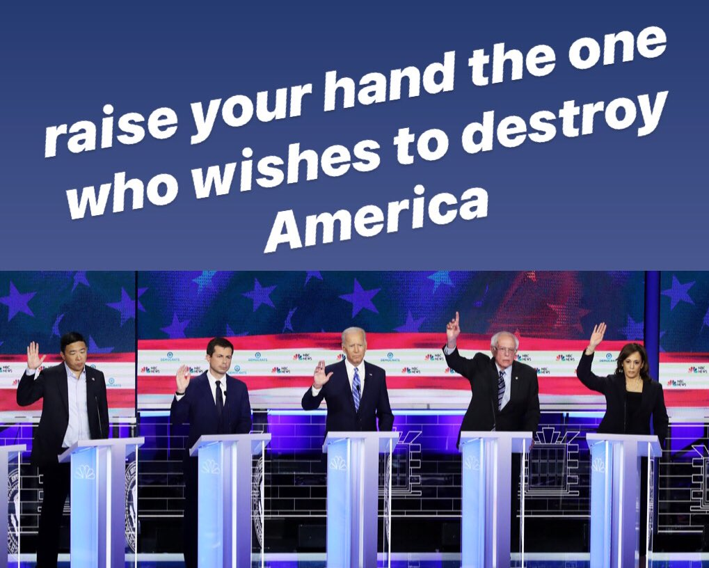 The Democrats still do not assume that Obama dark years did not come back.  In their announcements of the debate, they reaffirmed their commitment to support illegal immigrants over the people the American people. @realDonaldTrump @KatrinaPierson @Lrihendry @charliekirk11 @VP
