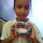 Image for the Tweet beginning: Yellow class used their weaving