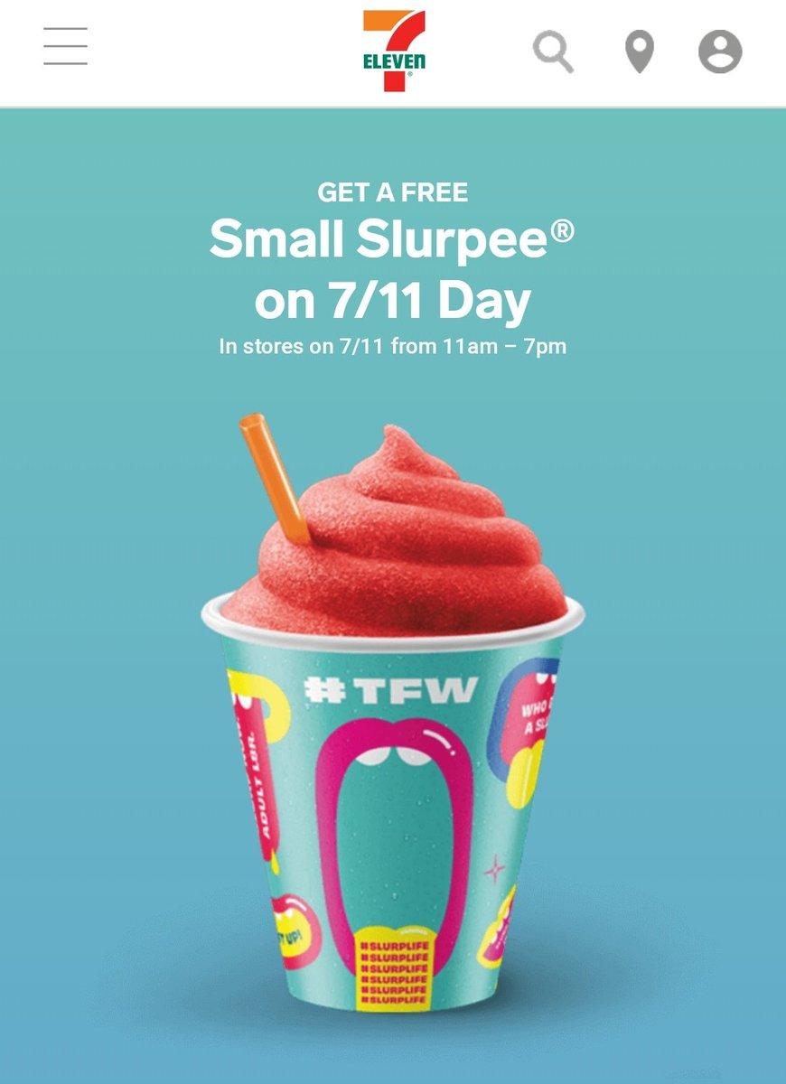 Free @Slurpree today!!!  Head off campus to the local 7-Eleven! Free Slurpee on 7/11 11am to 7pm.   #slurplife #7ElevenDay #freebie  http:// spr.ly/6019EvG5S    <br>http://pic.twitter.com/swW4jgX6Gx – à San Jose State University