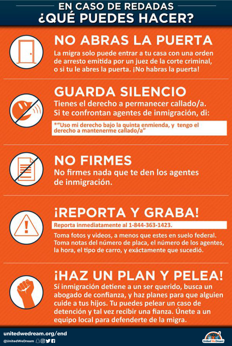 As the threat of ICE raids brings fear to our communities, it is important that you know your rights. Please share widely. #HereToStay