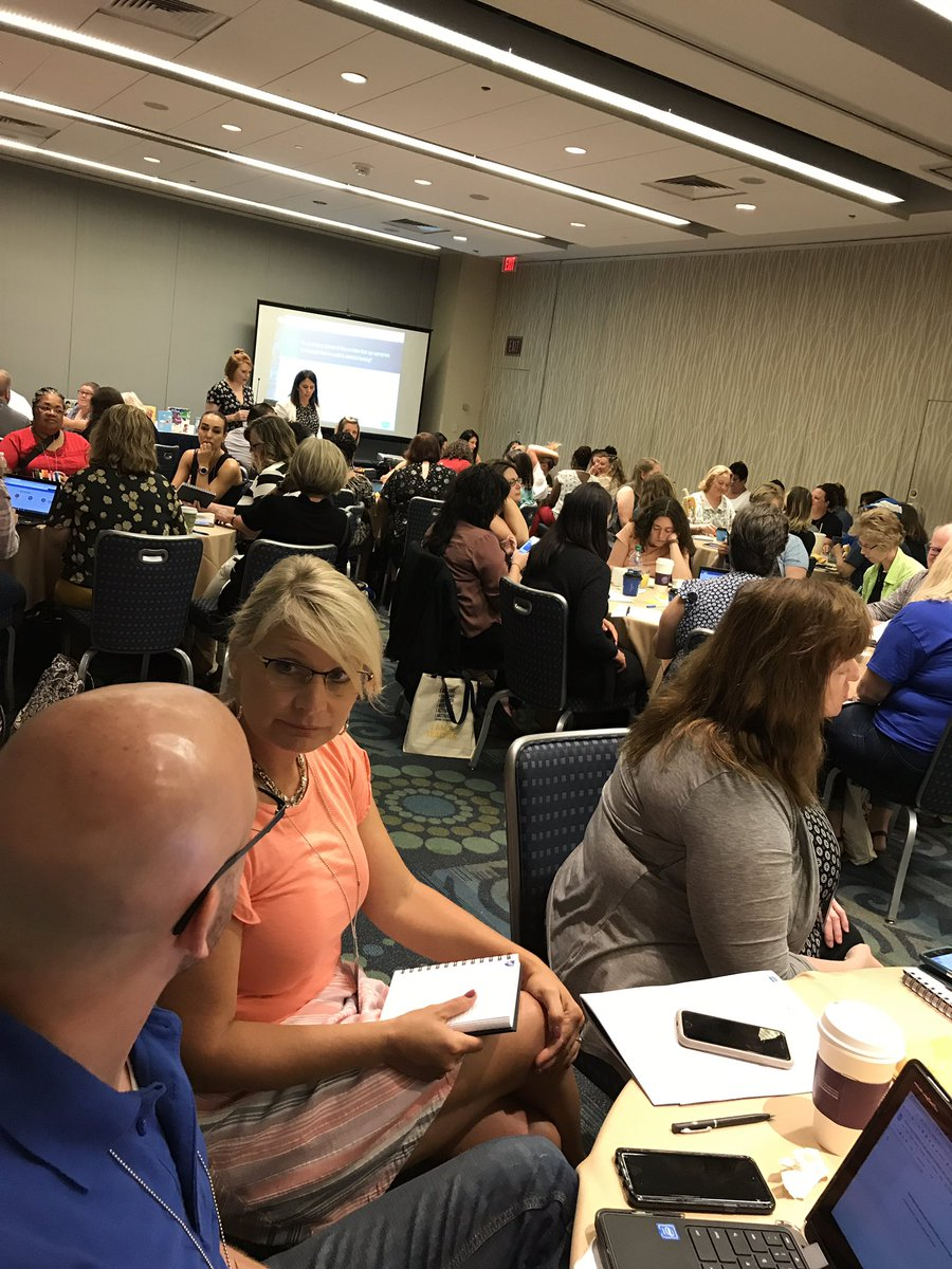 Trauma-Informed teaching learning session. Every table is full. The floor is packed. We care!! #TEACH19 @AFTunion