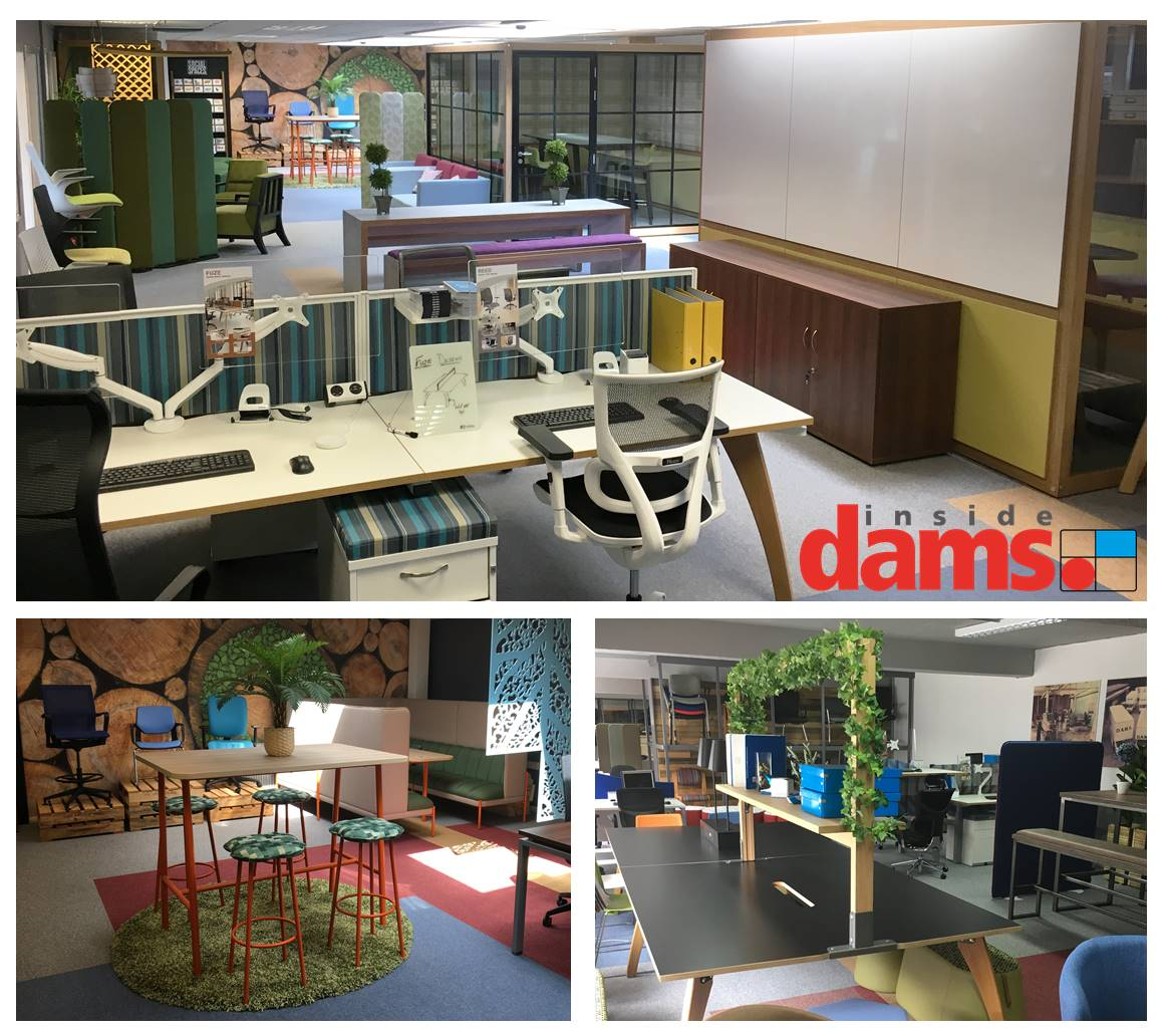 Take a look #InsideDams at our product showroom has had a bit of a refurb! New products including our #Hushhubs, #Bop modular stools, new #seating and some sneak previews of our new 2020 products have been added to showcase an eclectic mix of our office furniture products