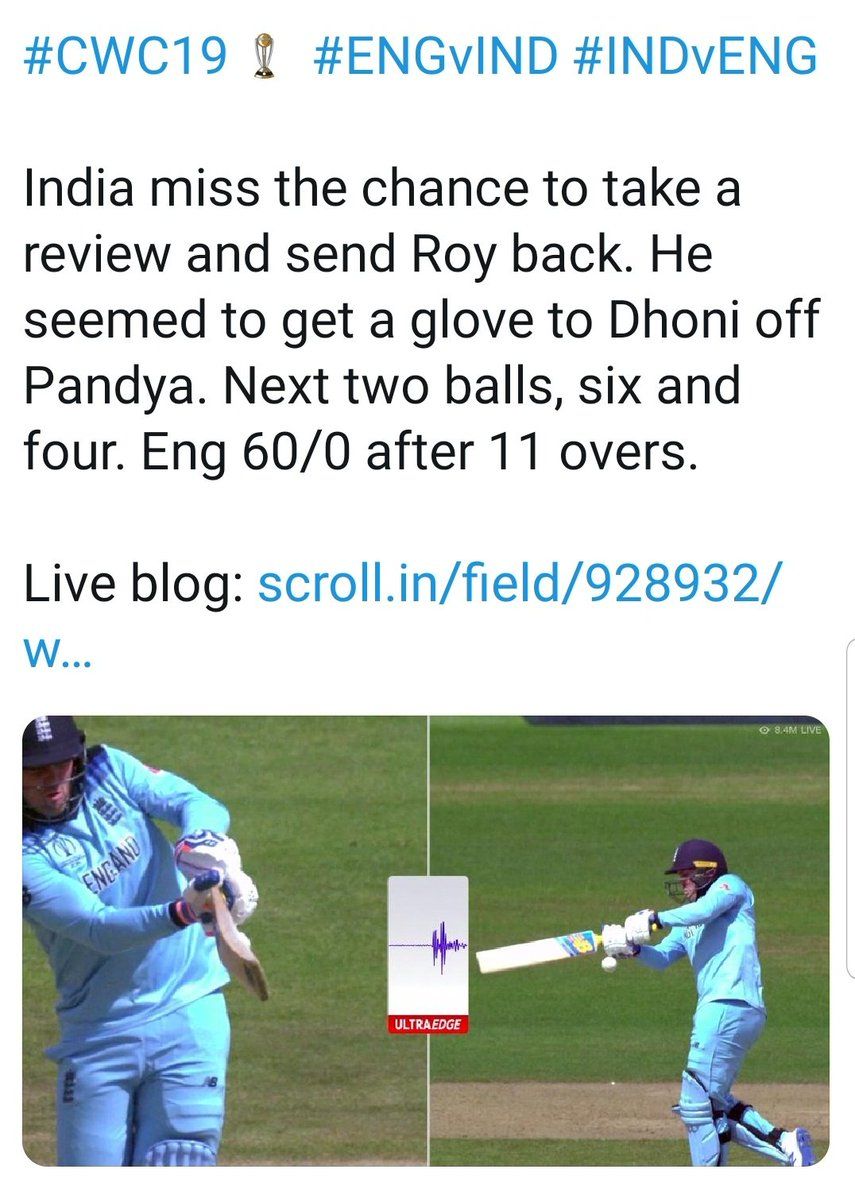 Jason Roy crying over a bad umpiring decision is hilarious. This was the same guy who gloved the ball against India and didn't walk. #ENGvAUS #CWC19