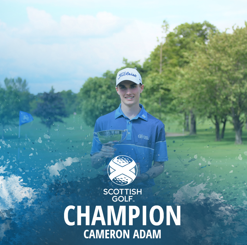 🏆  2019 Scottish Boys U16 Open Championship  Hear from @TheRoyalBurgess's Cameron Adam after securing victory at his home course.  Report 👉http://bit.ly/30AoSCl
