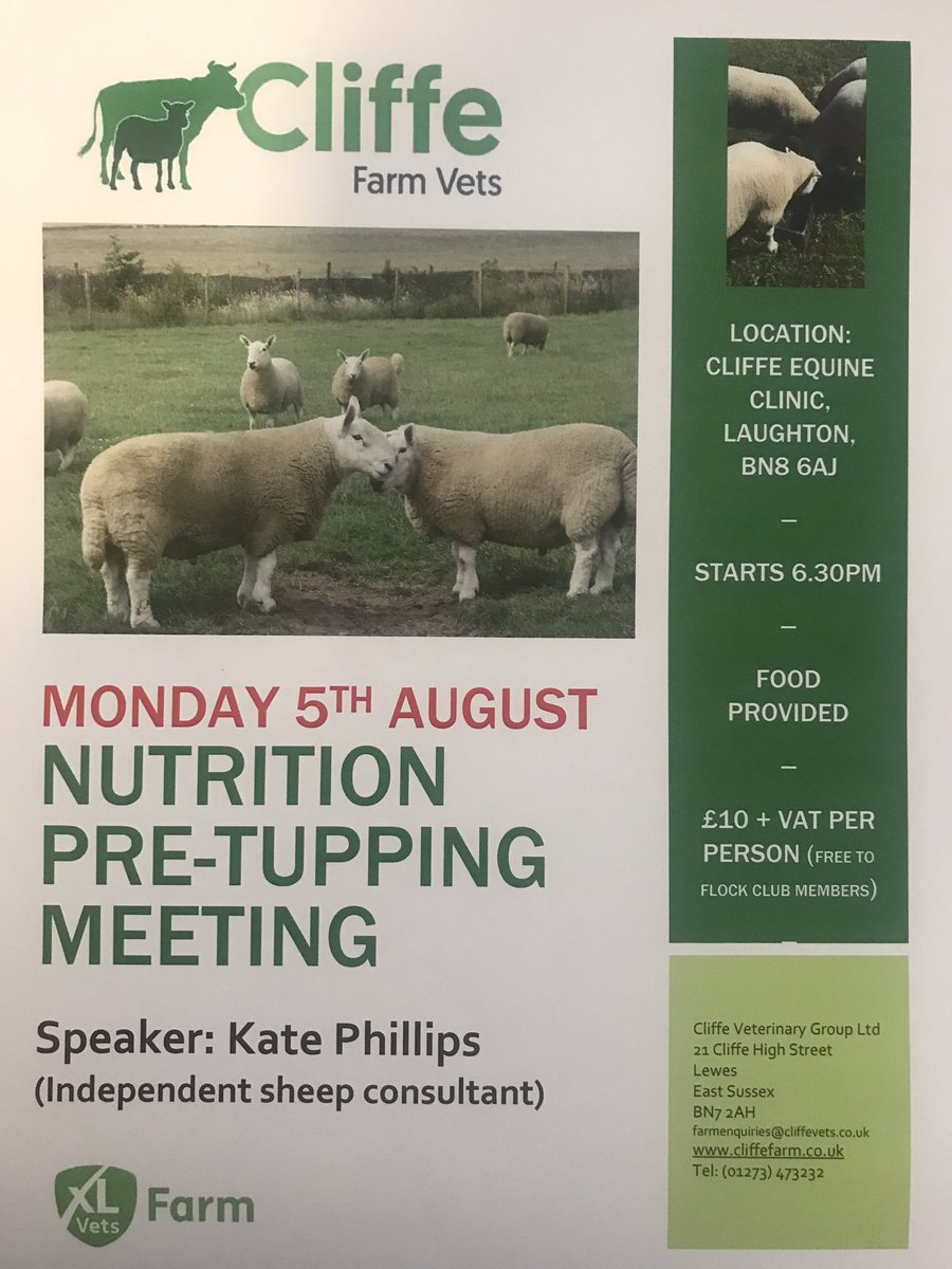 Another reminder, if you haven't already, to book your place at the next farmer meeting, we have renowned sheep expert Kate Phillips talking about sheep nutrition. 5th August at 6.30pm. #sheep365 #flockclub #colostrumisgold