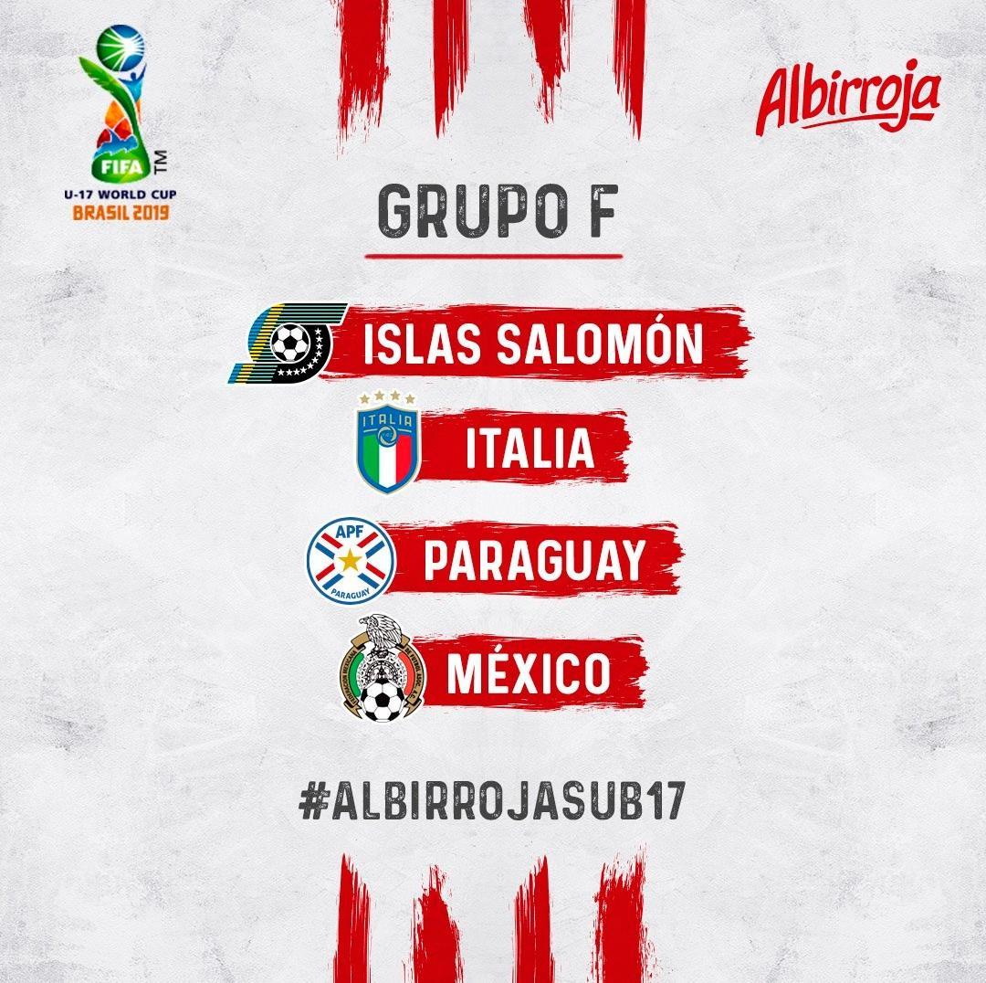 Paraguay ya tiene grupo confirmado para el Mundial Sub 17.  El debut será frente a México el 28/10.  #VamosParaguay   @centroalareapy