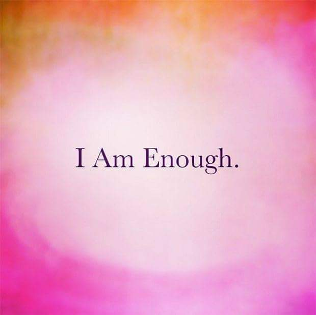 Somedays I'm not even sure..🤗But I'm going to keep saying it..#IamEnough#ThursdayThoughts